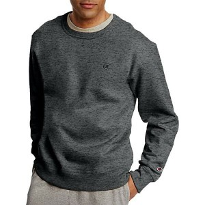 チャンピオン メンズ パーカー&スウェット アウター Champion Men's Powerblend Fleece Crewneck Sweatshirt Granite Heather