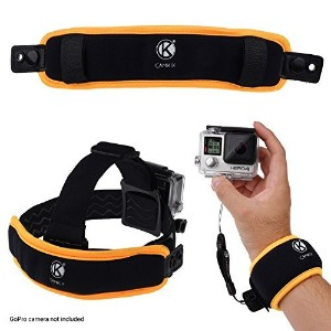 2in1 Floating Wrist Strap & Headstrap Floater - For GoPro Hero 4, Session, Black, Silver, Hero+ LCD...