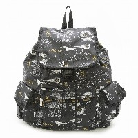 LeSportsac レスポートサック リュックサック 7839 VOYAGER BACKPACK D784 Black Night Fantasy [並行輸入商品]