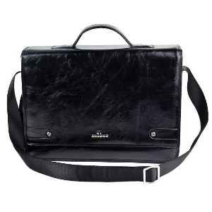 Men&#x27 s Leather Shoulder Messenger Briefcase Bag Handbag High Quality