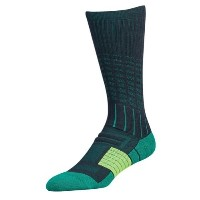 アンダーアーマー メンズ アメフト ソックス【Under Armour Unrivaled Crew Socks】Stealth Grey/Geode Green