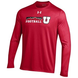 アンダーアーマー メンズ トップス Tシャツ【Under Armour College Sideline Tech L/S T-Shirt】Red