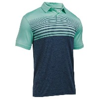 アンダーアーマー メンズ ゴルフ ウェア ポロシャツ【Under Armour Coolswitch Upright Stripe Gofl Polo】Mint/Academy/Graphite
