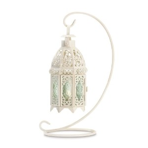 【Gifts & DecorホワイトFancyアンティークラティスCandle Lantern with Stand by Gifts & Decor】 Gifts &...