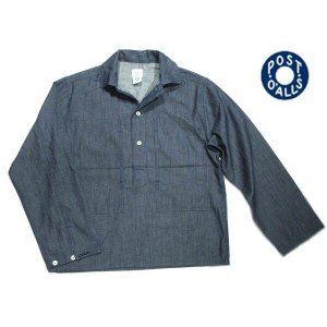 【期間限定30%OFF!】POST OVERALLS(ポストオーバーオールズ)/#1204R 7oz CONE DENIM ARMY SHIRTS-R/indigo