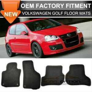 Volkswagen Golf フロアマット Fit 06-09 Volkswagen Golf Rabbit GTI Floor Mats Carpet Front & Rear Nylon...