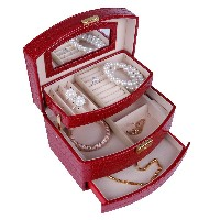 Leather jewelry box cosmetics Exquisite bracelet box women birthday present graduation gift Jewelry...