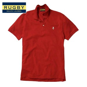 【20%OFFセール 7/08 20:00〜7/13 1:59】 ラルフローレン ラグビー RUGBY RALPH LAUREN 正規品 ポロシャツ POLO レッド