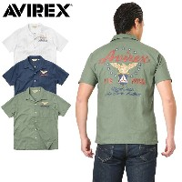 10%OFFクーポン対象品!AVIREX アビレックス 6175117 S/S AIR PATROL EMBROIDERY シャツ《WIP》