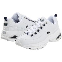 (スケッチャーズ) SKECHERS 靴・シューズ レディーススニーカー SKECHERS Premiums White Smooth Leather/Navy Trim US 8 (25cm) B