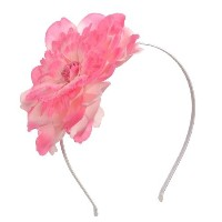Big Flower Headband Hair Accessory for Kids Girls Teens Women (Light Pink /Hot Pink Combo)