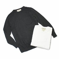 【S/S OUTLET】【SALE30】【WOMEN】S/S REMI RELIEF ( レミレリーフ ) / インターシャニット クルーネックトップ【ホワイト/ブラック】【送料無料】
