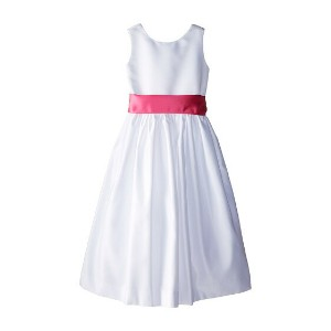 Us Angels Sleeveless Satin Dress (Big Kids)