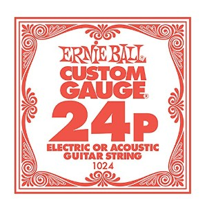 ERNiE BALL / Electric or Acoustic Steel Plain 1024 .024 バラ弦