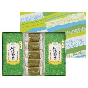 5%OFF お中元 新井園本店 小川和紙箱入り狭山茶・狭山抹茶バウム詰合せ 和菓子・諸国銘菓 新井園本店(お中元)