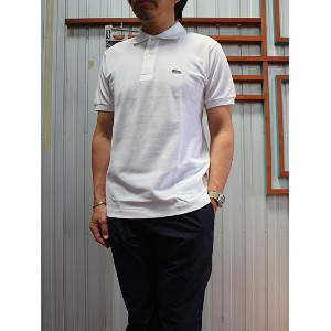 LACOSTE(ラコステ)FRANCE LACOSTE L1212 PIQUE POLO 半袖ポロシャツ White 送料無料