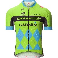 カステリ メンズ サイクリング スポーツ Castelli Cannondale/G Team 2.0 Jersey - Men's Sprint Green