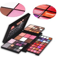 74 Full Color Makeup EyeShadow Palette Shimmer Glitter Eyeshadow Lip Gloss Blusher Concealer