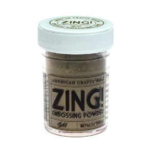 American Crafts Zing! Metallic Embossing Powder 1-Ounce Gold