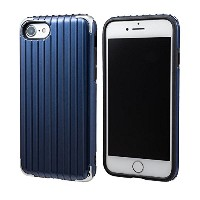 """GRAMAS COLORS """"Rib 2"""" Hybrid Case for iPhone 7/7 Plus (iPhone 7, Navy)"""