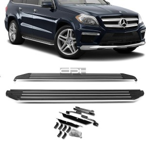"USパーツ FOR 13-16 MERCEDES BENZ GL-CLASS BOLT-ON 5.5 ""アルミサイドステップネッパーバー/レール FOR 13-16 MERCEDES BENZ GL..."