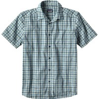 パタゴニア Patagonia メンズ トップス 半袖シャツ【Fezzman Slim Fit Shirts】Costa Small/Big Sur Blue