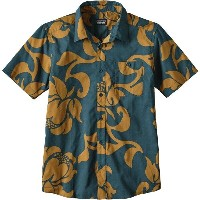 パタゴニア Patagonia メンズ トップス 半袖シャツ【Go To Slim Fit Shirts】Exotic Floral/Bay Blue