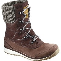 サロモン Salomon レディース シューズ・靴 ブーツ【Hime Mid Leather CSWP Boot】Dark Brown Leather/Black/Light Grey -