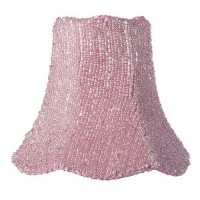 【Jubilee Collection 92824 Glass Bead on Fabric Chandelier Shade Pink by Jubilee Collection】...
