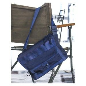 "BEAMS MEN BRIEFING × BEAMS PLUS / 別注 ""Fleet Messenger Bag"" NAVY ビームス メン【送料無料】"