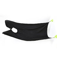 Male Beard Apron with 2 Suction Cups Facial Hair Trimmings Beard Catcher Cape Beard Shaving Aprons...