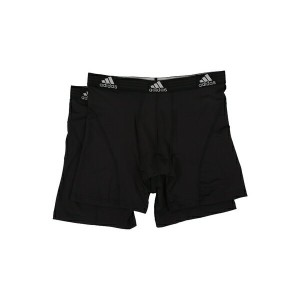アディダス メンズ ブリーフパンツ アンダーウェア Sport Performance ClimaLite 2-Pack Boxer Brief Black/Black/Black/Black