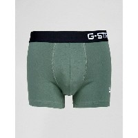 ジースター メンズ 靴下 アンダーウェア G-Star Raw Trunk With Contrast Waistband In Green Green