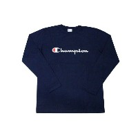 CHAMPION BASIC SCRIPT LOGO L/S T-SHIRTS (NAVY)チャンピオン/ロングTシャツ/紺