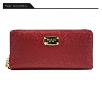 (マイケルコース) MICHAEL KORS 35H5GTTZ3L 財布 長財布 JET SET TRAVEL LEATHER CONTINENTAL WALLET チェリー レディース...