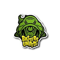 【BASSERS UNITED/バサーズ ユナイテッド】 Fish LOGO Sticker [GREEN] (code:BUM005)