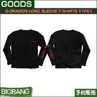 BIGBANG G-DRAGON LONG SLEEVE T-SHIRTS TYPE1 (FREE) / 公式グッズ /YG/日本国内発送/1次予約