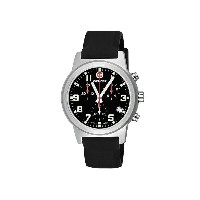 ウェンガー Wenger レディース アクセサリー 腕時計【Field Chronographic Large Swiss Quartz Watch - Rubber Strap】Black...