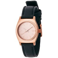 [ニクソン]NIXON SMALL TIME TELLER LEATHER: ALL ROSE GOLD/BLK NA5091932-00 レディース 【正規輸入品】