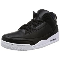 [ナイキ ジョーダン] スニーカー AIR JORDAN 3 RETRO 136064-020 BLACK/BLACK-WHITE 26
