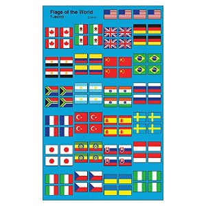Trend Enterprises トレンド superShapes Stickers Flags of the World 【ごほうびシール】 国旗ご褒美シール (800枚入り) T-46078