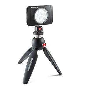 manfrotto LED&ミニ三脚キット LUMI MUSE LED PIXIミニ三脚ブラック JP MUSE PIXI KT