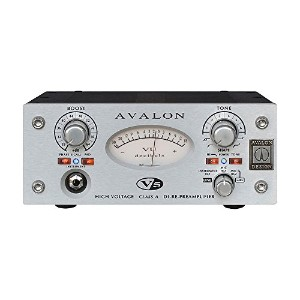 AVALON DESIGN アバロンデザイン HIGH VOLTAGE DI-RE-PREAMPLIFIER プリアンプ/D.I./リアンプ V5-SILVER 【国内正規品】