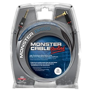 Monster Cable M BASS2-12A Monster Bass2 Series ベースギター用ケーブル/ プラグ S-L /ケーブル長:約3.6m [国内正規品/生涯保証制度対象品]