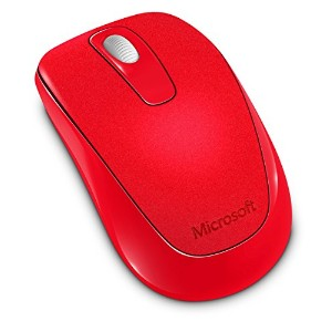 マイクロソフト ワイヤレス マウス Wireless Mobile Mouse 1000 Mac/Win USB Port Fire Red 2CF-00046