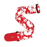 Planet Waves by D'Addario プラネットウェーブス ギターストラップ Broadway Collection Hibiscus Woven P20S1502 Red ...