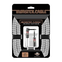 Monster Cable CLAS-I-21AC WH Classic Seriers楽器用 カールケーブル(白)/ プラグ S-L/ケーブル長:約6.4m