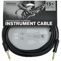 Planet Waves by D'Addario プラネットウェーブス ギターシールド American Stage Kill Switch Instrument Cable PW-AMSK-15...