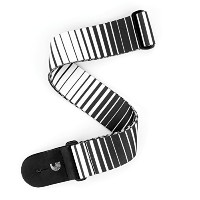 Planet Waves by D'Addario プラネットウェーブス ギターストラップ Bowery Collection Optical Stripes Art Woven P20S1508...