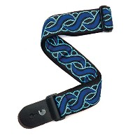 Planet Waves by D'Addario プラネットウェーブス ギターストラップ Bowery Collection Woven Guitar Strap 20T06 Blue Twist...